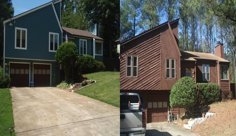 Siding job before and After